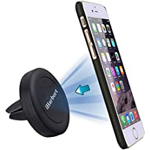 iHarbort® Car Mount Phone Holder, Magnético Para Coche Soporte de smartphone para iPhone 6S / 6/6 Plus / 5S / 5C / SE Galaxy Note Samsung Galaxy 3 4 S5 / S6 / S6 Edge / S7 / Edge y otro Móvil (Negro)