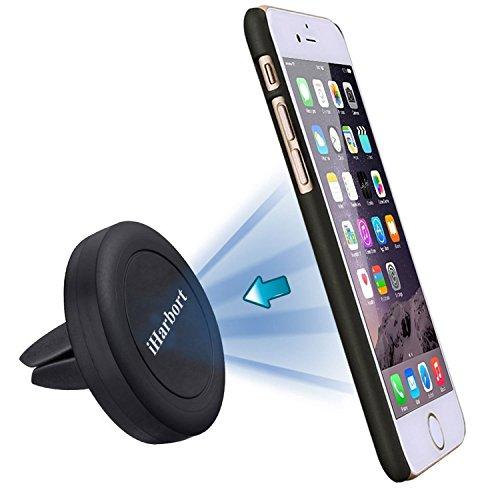 iHarbort® Supporto Auto Magnetico Supporto da Auto Parabrezza Universale Dashboard car mount holder per iPhone 6S / 6/6 Plus / 5S / 5C / SE Galaxy Note 4 3 Samsung Galaxy S5 / S6 / S6 Edge / S7 / Edge e Altro smart Phone (nero)