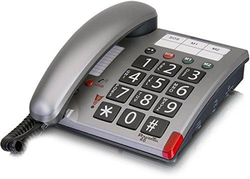 amplicomms PowerTel 46, Großtasten-Telefon mit programmierbaren Notrufnummern