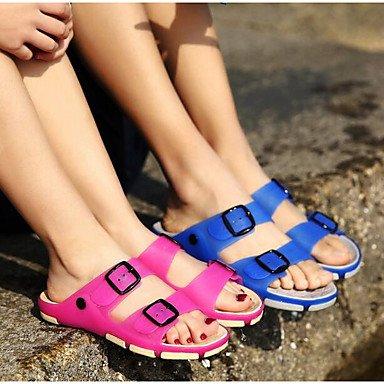 Uomini sandali estivi suole di luce esterna in silicone,marrone Fuchsia