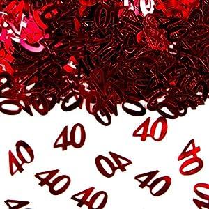 Folat Número de Confeti para Mesa