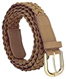 Jainsons Artificial Leather Casual Brown Braided Belt For Women