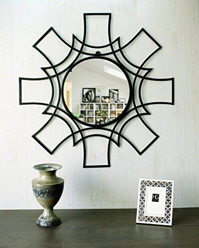 Hosley Decorative Star Shaped Iron Wall Mirror