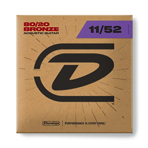 Dunlop DAB1152 Bronze 80/20 Medium Light 11-52 Acoustic Guitar Strings - Bronze Medium Light