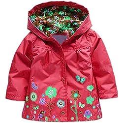 Très Chic Mailanda–Chubasquero con capucha para niña rojo 2-3 Años(Talla Del Fabricante 100 cm)