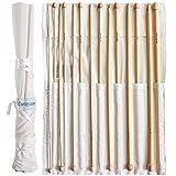 Set 14 Agujas Ganchillo Bambú Afgano - Kit Agujas de Madera de 34cm con Bolsa Gratis - Ideal para Ganchillo, Encaje, Blondas y Proyectos Florales - Set para Principiantes y Profesionales