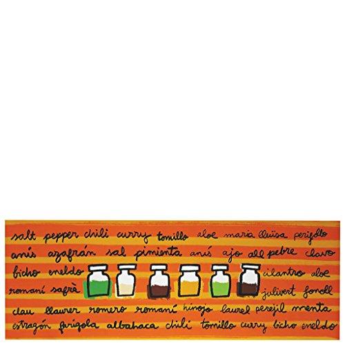 Laroom Alfombra, Vinylic Flooring PVC-Antislip, Naranja