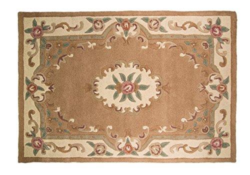 Original tradicional clásico Aubusson Floral 100% lana Tejido a mano chino alfombra, cervatillo 120x 180cm