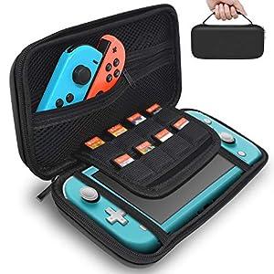 Fyoung Schutzhülle für Nintendo Switch Lite 2019, Hartschale mit 8 Spielkartuschen für Switch Lite Konsole, Joy-Cons, Spielkarten und anderes Zubehör
