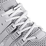 anan520 Elastic No Tie Shoe Laces for Adults, Kids, Elderly, System with Elastic Shoe Laces(2 Pairs) (Weiß)