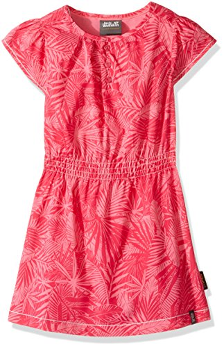 Jack Wolfskin Mädchen Kleid Jungle, Mädchen, Hot Pink All Over (Pink Kleid Hot Kinder)