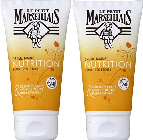 Le Petit Marseillais pflegende Handcreme für sehr trockene Haut, 75 ml, 2 Stück