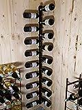 TIMEKEEPER - RB-02-18 - Porte Bouteille de vin d'angle Design Murale en métal de,...