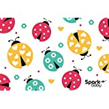LadyBugs Disposable Placemats Individually Folded For Kids Babies Children Toddlers 50 Count. 4 Adhesive Sticky Sides ...