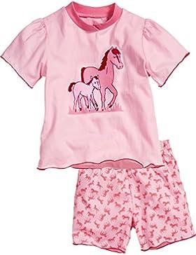 Playshoes Mädchen Zweiteiliger Schlafanzug Schlafanzug Shorty Single-jersey Pferde