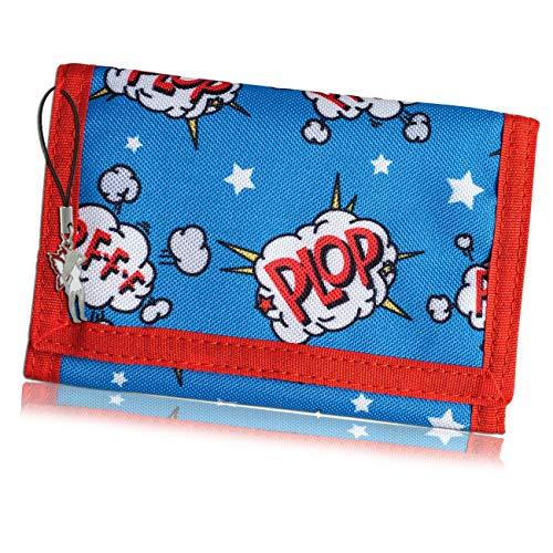 Bestway Kinderportemonnaie blau Geldbeutel Kids Comic Fee-Anhänger OPI100R