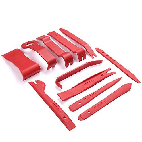 Marapon | Zierleistenkeile 11 tlg. inkl. hochwertige Aufbewahrungstasche | Montage-Keile für Verkleidungen im Auto | für Polsterungen und Kunststoffteile am PKW | LKW