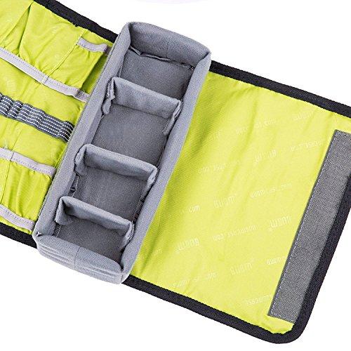 Multifunktions wasserdichte Leinwand Reise Roll Tasche Kamera Rollup Schutz Tragetasche Rollup Umhängetasche für Gopro Held 4, 3 +, 3, 2, 1 und Kamera Zubehör Grau