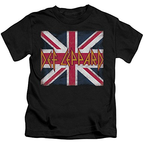 Def Leppard Youth Union Jack T-Shirt, Medium 5/6