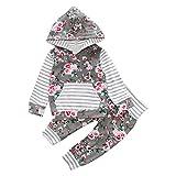 Bekleidung Longra Kinder Baby Jungen Mädchen Floral Kapuzenmantel Hoodie Sweatshirt