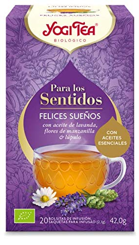 Yogi Tea Yogi Tea Felices Sueños para los Sentidos, 20 Unidades, Pack...