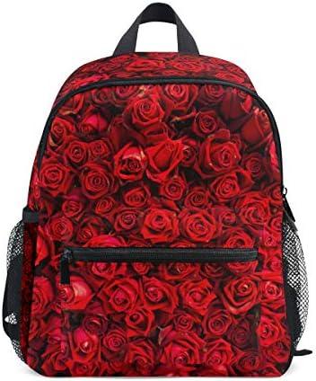 Mini Sac à à à Dos   Sac à Dos Rouge Naturel Roses Maternelle Sac de Maternelle   Voyage Filles garçons B07J3LKWR1 | Outlet Store Online  d642aa