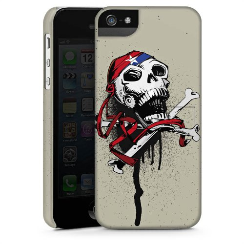 Apple iPhone 6 Housse Étui Silicone Coque Protection Pirate Mort Tête de mort CasStandup blanc