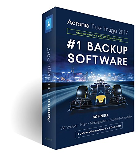 Acronis True Image 2017 - Software de licencias y actualizaciones (Caja, German)