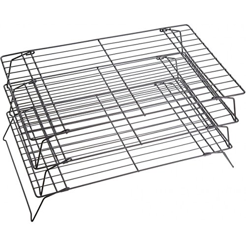 Kitchen Craft Auskühlgitter 3-teilig, 40 x 25 cm, antihaftbeschichtet (X Backen 8 Rack 10)