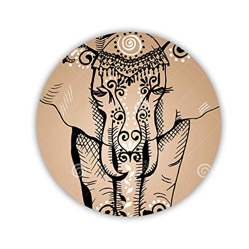 Zum Circle Refrigerator Magnet F¨¹r Typ Hergestellt Von Mdf Drucken Colorful Elephant Drawing 4 Qualit?t