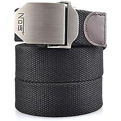 Cinturón Lona Hombre Militar Tactico Policia Negro Cinturónes Ocasional Todo-Fósforo Correa Hombres Cinturón 130cm Largo