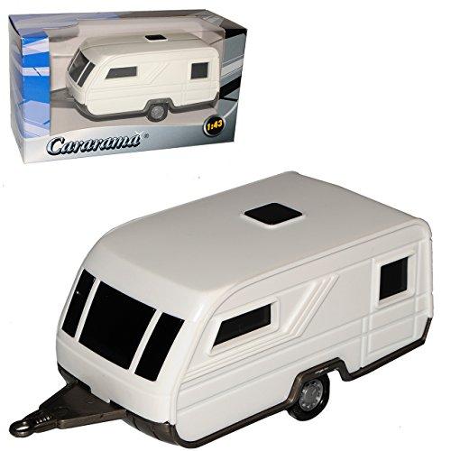 Cararama Anhänger Wohnwagen Weiss mit Grau 1/43 Modell Auto
