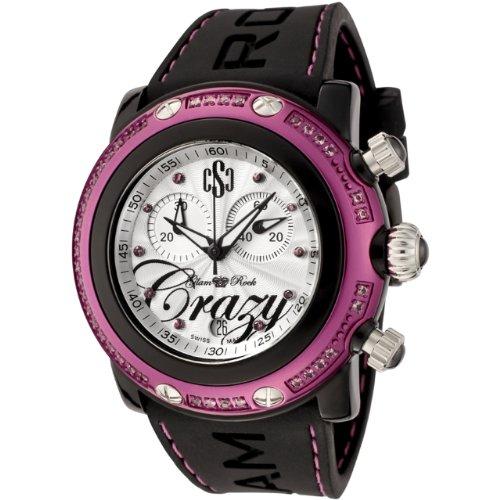 Glam Rock GR60100 - Reloj de Pulsera Mujer, Silicona, Color Negro