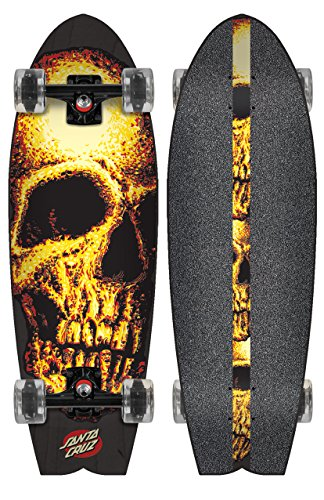 Santa Cruz Longboard Night Creeper Shark, 8.8 x 27.7 Pulgadas, sanlobnicrsh