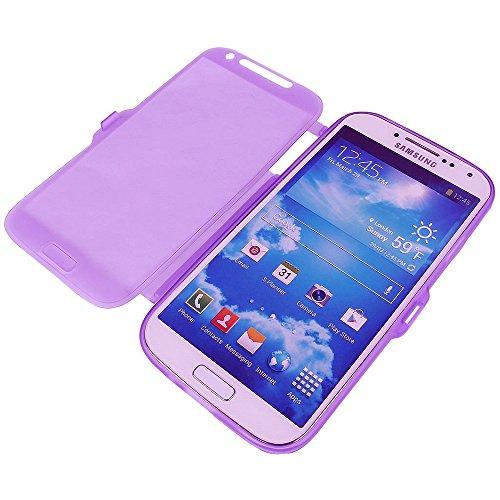 TPU trasparente per Samsung Galaxy Note 2N7100Display Touch Smart Cover a rosa viola