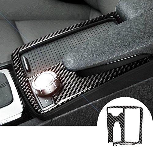 wroadavee Kohlefaser Mittelkonsole Dekors Getränkehalter Rahmen Blende 1 Stück (W204 Mercedes)