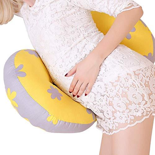 Szyzl88 Forma de u Embarazo Almohada, Embarazo Mujeres Almohada, Lateral Traviesa, Doble Cuña Algodón...