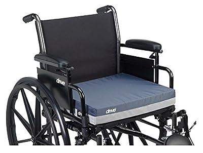 "Drive Medical 3"" Pressure Relief Gel Transit Self Wheelchair Cushion Seat Raiser"