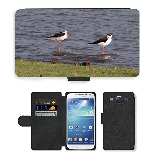 hello-mobile PU LEDER LEATHER FLIP CASE COVER HÜLLE ETUI TASCHE SCHALE // M00137338 Stelzenläufer Gemeinsamen Stelzenläufer // Samsung Galaxy S3 S III SIII i9300