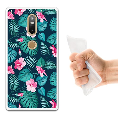 WoowCase Lenovo Phab 2 Plus Hülle, Handyhülle Silikon für [ Lenovo Phab 2 Plus ] Tropische Blumen 2 Handytasche Handy Cover Case Schutzhülle Flexible TPU - Transparent