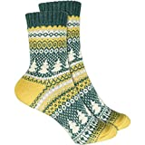 cosey - bunte Socken in Weihnachtsbaum Design rot (33 – 40) - 2 Paar