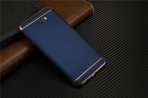 D-kandy 3 In 1 Electroplated Bumper Hybrid Hard Back Cover Case For Samsung Galaxy J5 Prime - Blue