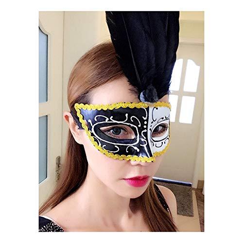 e Feather Flash Halbe Gesichtsmaske Für Halloween Kostüm Ball, Ich ()