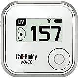 Golf Buddy Voice Plus GPS Range Finder White Audio Distance & English Manual