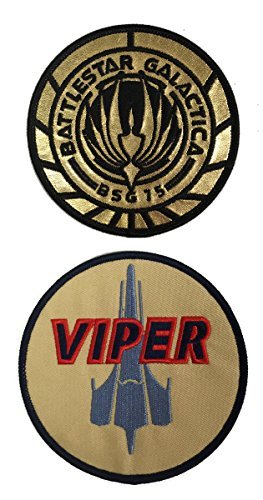 Kostüm Galactica Battlestar Uniform - Patches Battlestar Galactica Uniform/Kostüm 8,9 cm Patch Set von 2