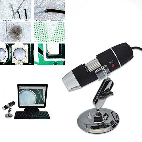 Rokoo portable 500x microscopio elettronico 8led usb endoscopio videocamera lente d' ingrandimento microscopio digitale con supporto