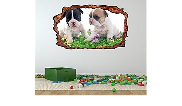 Wandsticker Kinderzimmer Raketen Hund Wandtattoo Weltall selbstklebend ablösbar