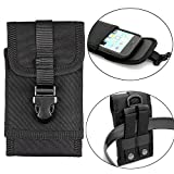 Molle Taktische Handytasche Gürteltasche für iPhone 6S Plus iphone 7 Plus Samsung Galaxy Note 5 Blackberry 8300 HTC One Max Sony Xperia Z3 Z5 (Schwarz)
