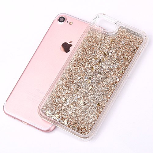 iPhone 7 Silikon Hülle,iPhone 7 Glitzer Hülle,iPhone 7 Transparent Hülle,iPhone 7 Crystal Clear TPU Case Hülle Klare Cristall Silikon Gel Schutzhülle Etui für iPhone 7 4.7 Zoll,EMAXELERS iPhone 7 (4.7 B Star Liquid 3