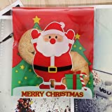 Leisial 100 pcs Biscuit Sweet Bag Self Adhesive Cellophane Plastic Material Xmas Gift Package for Candy Bar Wedding Anniversary Christmas Party